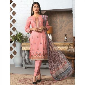 Elegance by MTF Jacquard Embroidered Shirt with Silk Dupatta 3pc Lawn Suit d-05