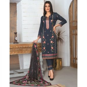 Elegance by MTF Jacquard Embroidered Shirt with Silk Dupatta 3pc Lawn Suit d-06