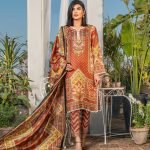 Three Star Unstitched 3pc Printed Lawn Suit S1-00A