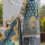 Three Star Unstitched 3pc Printed Lawn Suit S1-00B