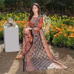 Three Star Unstitched 3pc Printed Lawn Suit S2-00B