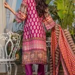 Three Star Unstitched 3pc Printed Lawn Suit S5-00B