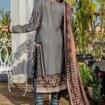 Three Star Unstitched 3pc Printed Lawn Suit S6-00B
