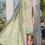 Three Star Unstitched 3pc Printed Lawn Suit S7-00A