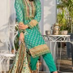 Three Star Unstitched 3pc Printed Lawn Suit S7-00B