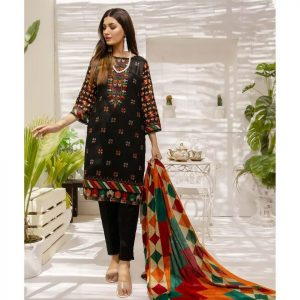 Mariam Ayesha Unstitched 3pc Printed Lawn Suit d-03B