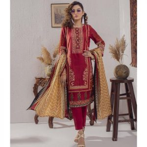 Mariam Ayesha Unstitched 3pc Printed Lawn Suit d-06B
