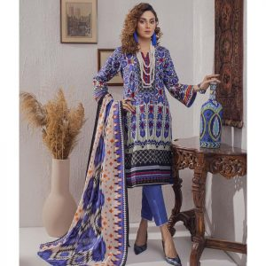 Mariam Ayesha Unstitched 3pc Printed Lawn Suit d-07A
