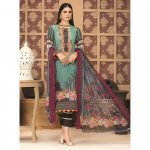 Rosette by MTF Digital Printed Lawn with Mirror Work d-01