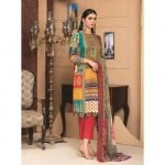 Rosette by MTF Digital Printed Lawn with Mirror Work d-04