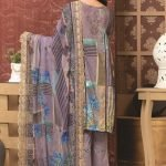 Rosette by MTF Digital Printed Lawn with Mirror Work d-05