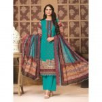 Rosette by MTF Digital Printed Lawn with Mirror Work d-07
