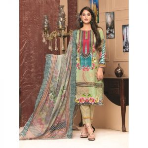 Rosette by MTF Digital Printed Lawn with Mirror Work d-08