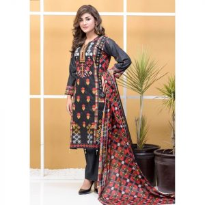 Satrangi by Mysoori Unstitched 3pc Embroidered Lawn Suit d-01B