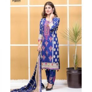 Satrangi by Mysoori Unstitched 3pc Embroidered Lawn Suit d-04A