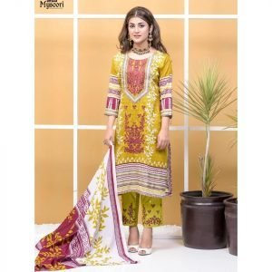 Satrangi by Mysoori Unstitched 3pc Embroidered Lawn Suit d-05A