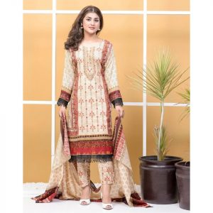 Satrangi by Mysoori Unstitched 3pc Embroidered Lawn Suit d-06B