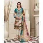 AVYANNA by Tawakkal Unstitched 3pc Embroidered Lawn Suit d-1545A
