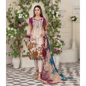 AVYANNA by Tawakkal Unstitched 3pc Embroidered Lawn Suit d-1545B