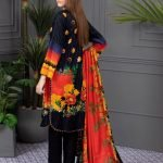 Rang Reza Summer Special by Z.S 3pc Unstitched Printed Lawn Suit d-02