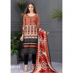 Rang Reza Summer Special by Z.S 3pc Unstitched Printed Lawn Suit d-03