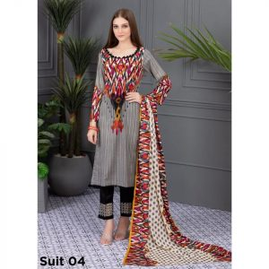 Rang Reza Summer Special by Z.S 3pc Unstitched Printed Lawn Suit d-04