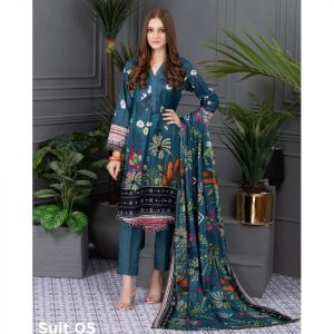 Rang Reza Summer Special by Z.S 3pc Unstitched Printed Lawn Suit d-05