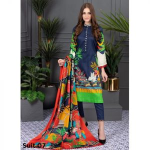 Rang Reza Summer Special by Z.S 3pc Unstitched Printed Lawn Suit d-07
