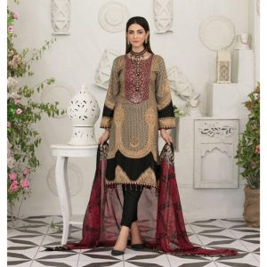 Raqami by Tawakkal Unstitched 3pc Embroidered Lawn Suit d-1609