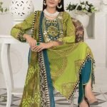 Raqami by Tawakkal Unstitched 3pc Embroidered Lawn Suit d-1610