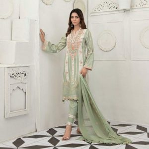 Raqami by Tawakkal Unstitched 3pc Embroidered Lawn Suit d-1614