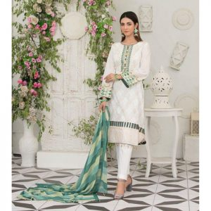 Raqami by Tawakkal Unstitched 3pc Embroidered Lawn Suit d-1617