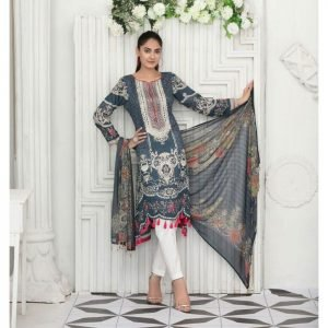 Raqami by Tawakkal Unstitched 3pc Embroidered Lawn Suit d-1619