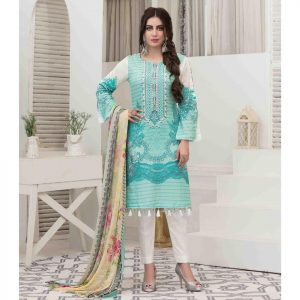 Summer Medley by Tawakkal Unstitched 3pc Embroidered Lawn Suit d-1471B
