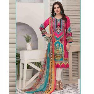 Summer Medley by Tawakkal Unstitched 3pc Embroidered Lawn Suit d-1473A