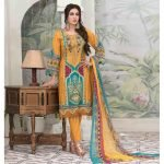 Summer Medley by Tawakkal Unstitched 3pc Embroidered Lawn Suit d-1473B
