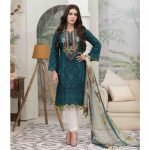 Summer Medley by Tawakkal Unstitched 3pc Embroidered Lawn Suit d-1474B