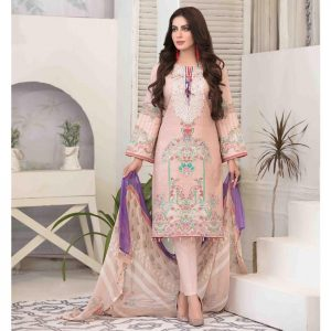 Summer Medley by Tawakkal Unstitched 3pc Embroidered Lawn Suit d-1475B