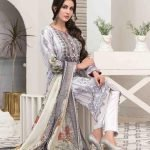 Summer Medley by Tawakkal Unstitched 3pc Embroidered Lawn Suit d-1476B