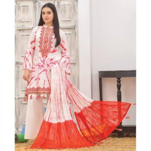 Khass by Mizaaj Unstitched 3pc Tie and Dye Embroidered Lawn Suit d-02