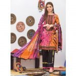 Khass by Mizaaj Unstitched 3pc Tie and Dye Embroidered Lawn Suit d-04