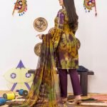 Khass by Mizaaj Unstitched 3pc Tie and Dye Embroidered Lawn Suit d-06