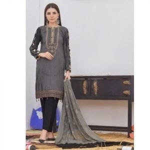 Khass by Mizaaj Unstitched 3pc Tie and Dye Embroidered Lawn Suit d-07