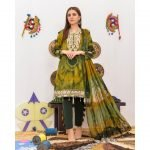 Khass by Mizaaj Unstitched 3pc Tie and Dye Embroidered Lawn Suit d-10