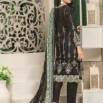 Royal Signature by MTF Black and White 3pc Printed Lawn Suit d-01