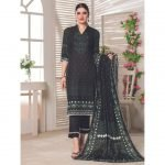 Royal Signature by MTF Black and White 3pc Printed Lawn Suit d-04