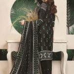 Royal Signature by MTF Black and White 3pc Printed Lawn Suit d-05