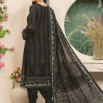 Royal Signature by MTF Black and White 3pc Printed Lawn Suit d-06