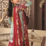Mariam Ayesha Unstitched 3pc Printed Cambric Suit d-01A