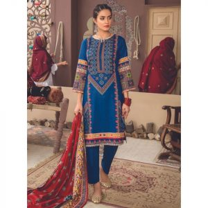 Mariam Ayesha Unstitched 3pc Printed Cambric Suit d-02A